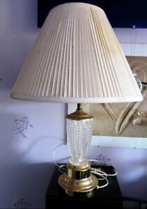 Vintage Table Lamp with German Crystal Base