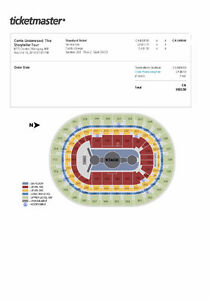 Carrie Underwood Tickets Oct. 15 MTS Center 7:00 p.m.