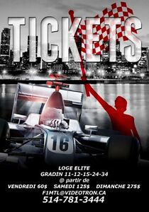 Billets / Tickets Grand Prix F1 du Canada 2016