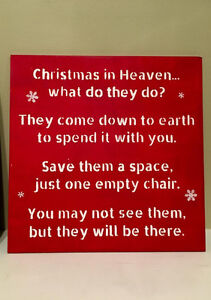 """Hand Painted Wood Christmas Signs 12"""" x 12"""", various colors Strathcona County Edmonton Area image 2"""
