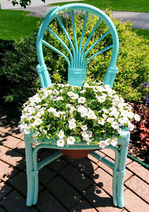 Flower planter, flower chair, chair planter, vintage chair