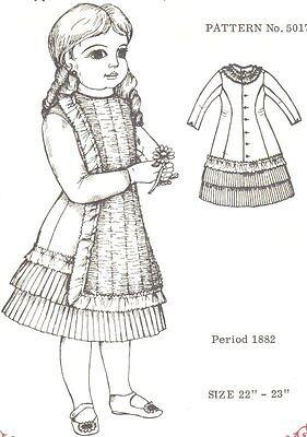 "Period DOLL DRESS 22 -23"" PATTERN Victorian German French"