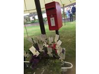 Wedding post box with stand