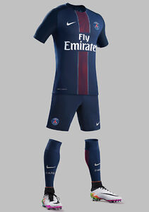 kids set Paris Saint-Germain jerseys and shorts for 7-13 years