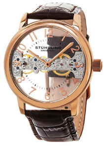 Stuhrling Original Mens 680.02 Legacy Mechanical Bridge Watch
