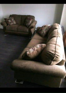 Sofa & Love Seat and Coffee Tables
