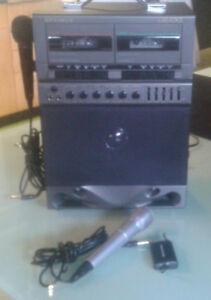 OPTIMUS Karaoke Machine with 2 Microphones Model 32-1162