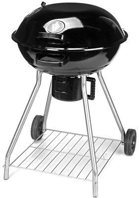 46016 BBQ Kugelgrill Holzkohlegrill auf Rädern mit Deckel 57 cm Ø