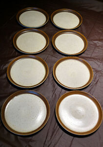 Denby Langley Russet Pattern Dinner Plates, Set of 8