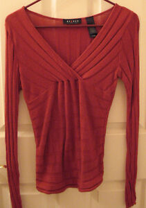 ACCESS (by Liz Clairborne) Brick Red Pullover Sweater