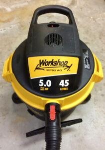 5 Horsepower Wet and Dry Shop Vac used twice