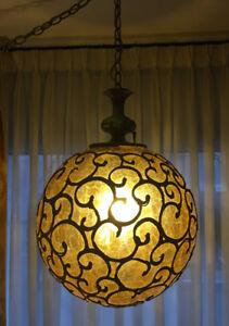 Lampe antique boule FRASER 26pouces