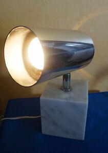 4u2c MID CENTURY MODERN MARBLE AND CHROME LAMP