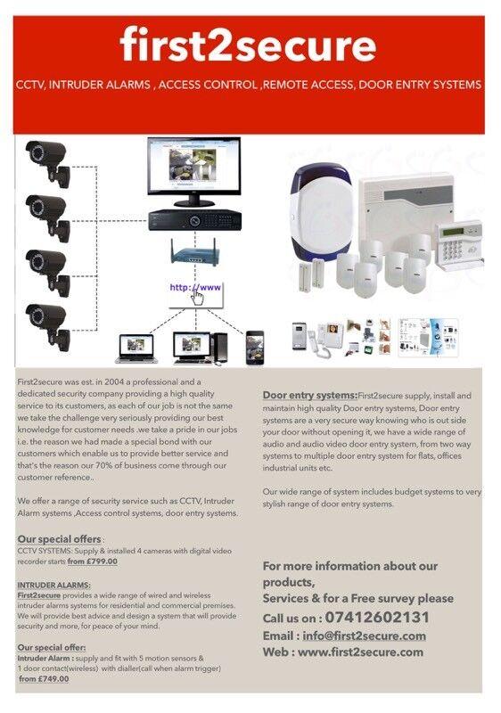 Cctv Install Intruder Alarm Door Entry Systemsintercomssecurity