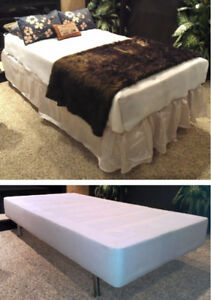 Clean Single Bed : 3-pc Mattress + Stainless Steel Legged Base