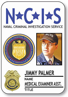 Jimmy Halloween Costume (NAME BADGE HALLOWEEN COSTUME JIMMY PALMER MEDICAL EXAMINER NCIS PIN)