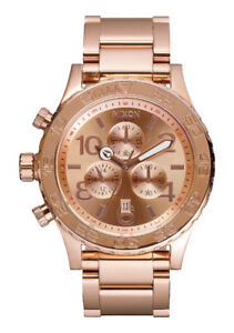 "Nixon Watch-Unisex ""42-20 Chrono"" in Rose Gold"