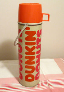 Bouteille isolante vintage Thermos Dunkin' Donuts