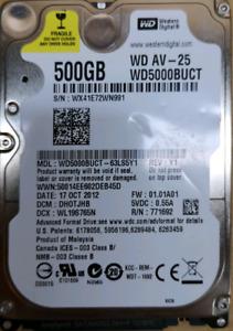 "Western Digital 500GB 5400rpm 16MB 2.5"""