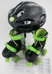 Junior Roller skates w/helmet, adjustable size J9-12 -excellent