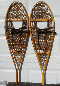 Brand new GV traditional 14 X 48 wood snowshoes – Raquettes bois