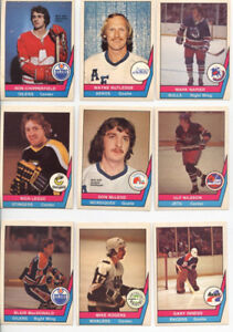A complete set of OPC hockey cards from the 1977-78 WHA season