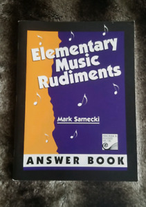 Elementary Music Rudiments -- Answer Book