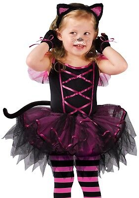 Black Cat Toddler Costume (Black Kitty Cat Costume Catarina Ballerina Tutu Toddler Infant - 24M-2T,)