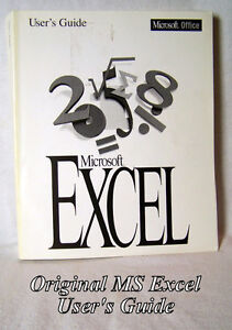 MS Manual- Excel, version 5, like new for Windows & Apple