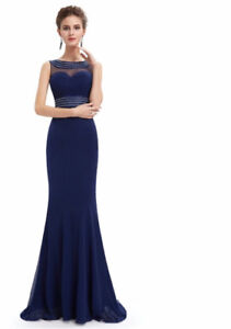 Royal Blue Mesh Top Gown