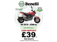 BRAND NEW BENELLI TORNADO TNT 125CC LEARNER LEGAL