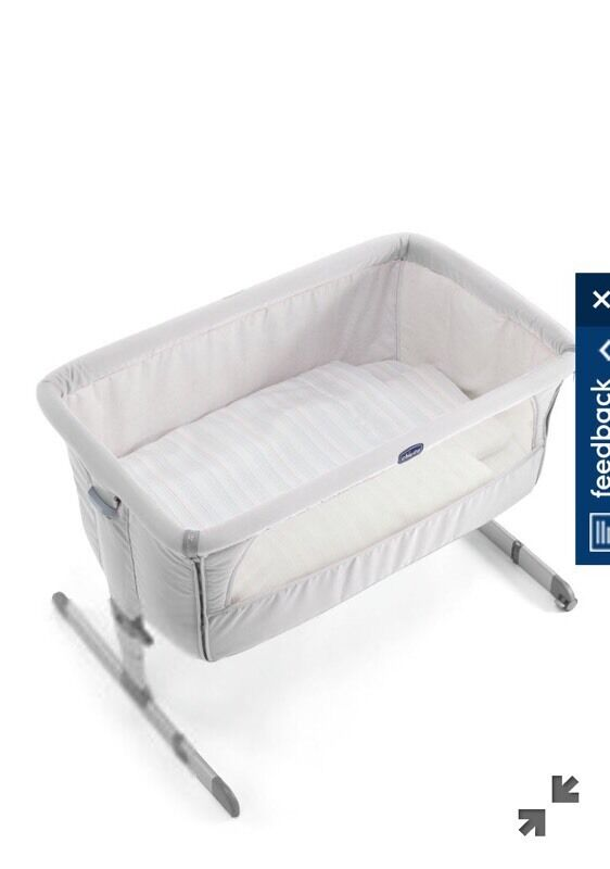 Chicco Next 2 Me Silver Cribin Southside, GlasgowGumtree - Silver Next 2 Me cribIncludes matressCollection onlyGood condition Less than one year oldPlease note, crib has small hole underneath matress, this was to fit a breathing monitor pad and cannot be seen when crib is built
