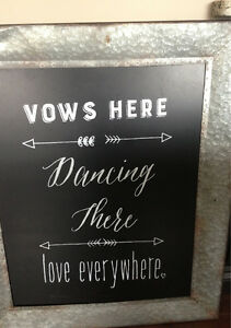 Rustic Chalkboard Wedding Sign Cambridge Kitchener Area image 2