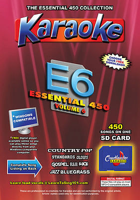 7c04643a3bb Chartbuster Essential 450 Karaoke Songs Vol 6 SD Card or USB CDG Music 4  PLAYER