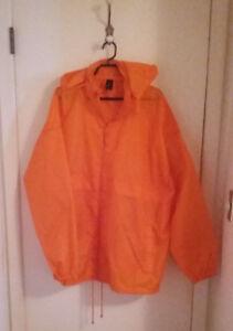 Brand New Orange Windbreaker (Hooded, Men's XXL)