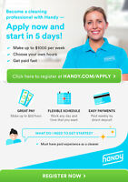 Full-time and part-time professional cleaners wanted-up to $22hr