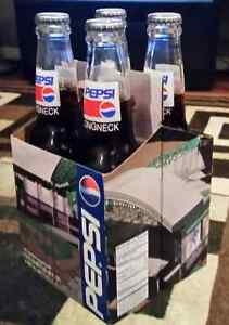 4 Pack of PEPSI Collectable Bottles Diamonbacks 1996