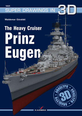 Kagero Super Drawings in 3D 25: The Heavy Cruiser Prinz Eugen for sale  Newport