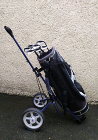 Dunlop (Tour), full iron set with Wilson bag and trolley.