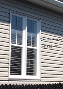 Lot de 6 Fenêtres en PVC avec moustiquaires