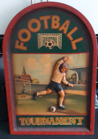 Vintage hand painted football picture