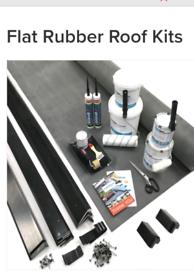 Flat EDPM rubber roof kit.