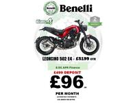 2018 BENELLI LEONCINO 500 NAKED - RIDE AWAY FROM 96 P-MTH