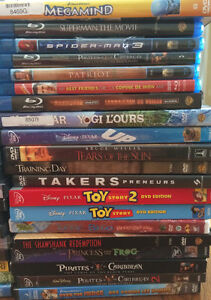 40 DVD and or Blu Ray Movies