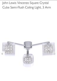 John Lewis Cube Crystal ceiling light
