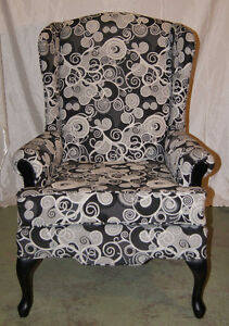 Wing back chair brand new - reupholstered!