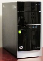 HP 500 3.5 to 4.1GHZ A8 QUADCORE 8GB RAM 1GB VIDEO 750GB HD WIFI