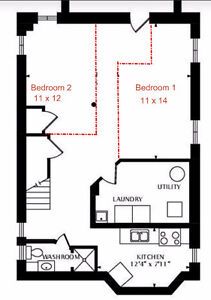 2 spacious rooms near Donlands station