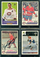 20 Hockey Autographed Cards in Display Case - 19 Hall of Fame