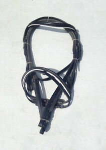 Black Bridle and Stirrup Leathers